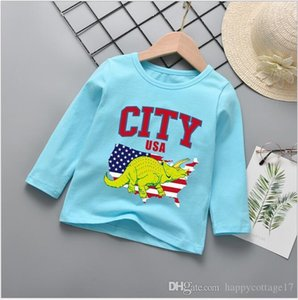 2020 Boys Spring and Autumn Long Sleeve Bottoming Shirt Wild Multicolor Basic Boys Wear Round Neck T-Shirt Cotton Cartoon Long Sleeve