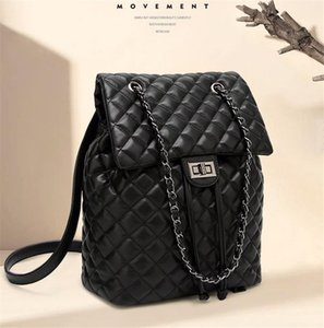 Di lusso della moda Borsa delle donne di doppio sacchetti di spalla di modo Linger catena della spalla di stile unico Womens zaini borsa Famale ragazze Bag
