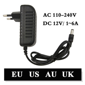 110-240V AC DC adaptador de 12V 1A 2A 3A 4A 5A 6A Power Adapter Carregador Universal de comutação de alimentação de 12 volts LED Light Strip plug