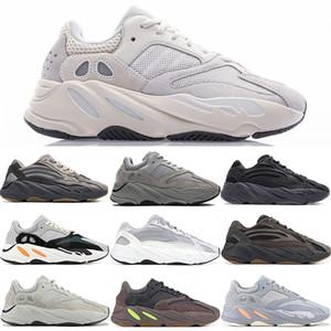 Kanye West 700 Vanta Statik ANALOG INERTI Tuz Geode Mıknatıs Yansıtıcı Erkek Ayakkabı Leylak TUZ Teal Mavi eğitmenler Spor ayakkabılar Koşu