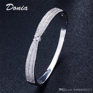 Donia Schmuck Farbe zwei galvanisieren übertrieben Mikro Inlay Zirkon Tier justierbares Armband geometrisches Design Geschenk personalisierte