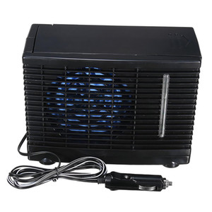 12V Portable Car Truck Home Office Mini Black Air Conditioner Evaporative Water Cooling Fan Low Noise Operation