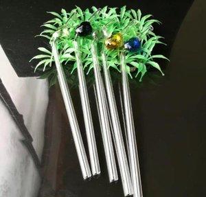 A01 Color Peach Gass Gass Paja, bongs de vidrio al por mayor, tubo de vidrio, quemador de aceite de vidrio, adaptador, tazón