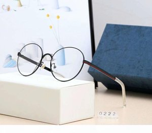 New Fashion Designer Sunglasses Plano Miopia Espelho de luxo óculos de sol para mulheres dos homens Goggle Luz Óculos de alta qualidade Modelo 0222 com caixa