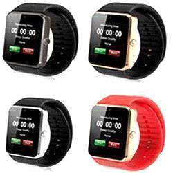 GT08 Bluetooth Smart Watch Ranura y relojes para Android y IOS Apple iPhone Smartphone Pulsera Smartwatch Tarjeta Cámara