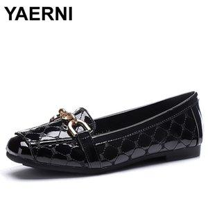 YAERNI 2020 Calçados Femininos Flats desenhista calça Mulheres Luxo Moda Mulheres de Loafers Flats Escritório das senhoras C244