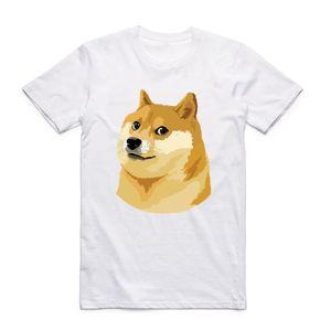 Asian size Men And Women Print Thug Doge Deus God Dog shiba Inu White T-shirt Short sleeve O-Neck harajuku fitness funny Tshirt