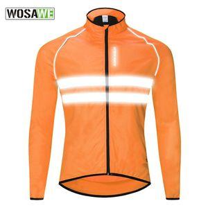 Wosawe горная страна Highway Run езды Хорошая одежда с длинным рукавом куртки куртки отражающими свет обороны Брызги воды Go Fishing Подавать