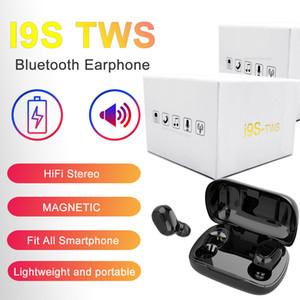 Kutu Kablosuz Bluetooth Kulaklık sıcak satış Şarj ile tüm Phone için I9S tws 5.0 Kulaklık Kulaklık Stereo Kulaklık TWS