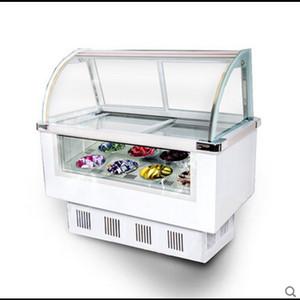 vitrine de la crème glacée de couverture en verre trempé commercial 170W refroidi coffret congelé bouillie de fruits pour le magasin de franchise de la crème glacée