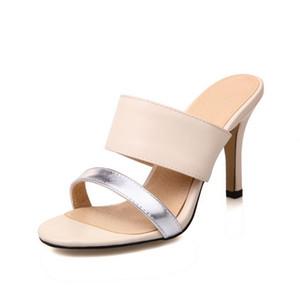 Sale-estate calda mista di colore alto tallone eccellente donne dei sandali sottili ciabatte tallone delle signore infradito scarpe estive donna