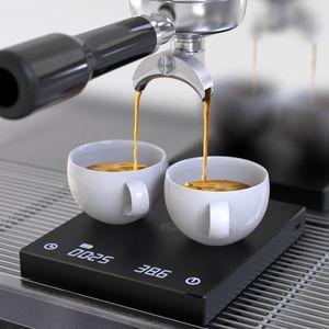 BLACK BASIC Kaffeewaage Smart-Digital-Skala Gießen Kaffee Elektronische Drip Coffee Waage mit Timer 2kg / 0.1g