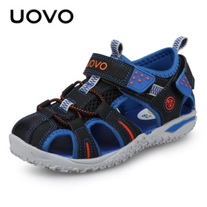 Boys # 24-38 İçin UOVO Yeni Geliş 2020 Yaz Plaj Sandalet Çocuk Kapalı Burun Bebek Sandalet Çocuk Moda Tasarımcısı Ayakkabı
