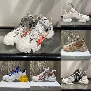 2020 Women Designer Shoes luxury D-CONNECT Leisure sports Hidden Height Design Technology Fabric Fashion Sneakers Rubber Sport Casual Shoes