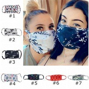 Маски для лица маски Письма моющегося ультрафиолетового доказательства пылезащитного респиратор езда Велоспорт Спорт Mouth Маски мужчина и женщины на улицу 2020 E4105