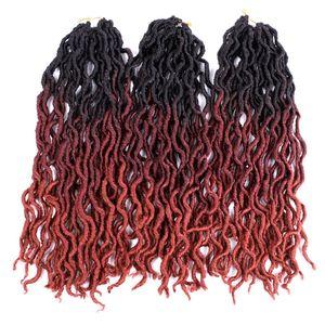 18Inch Synthetic Nu Gypsy Locs Hair Extension Jumbo Braids 100g pc Freetress Wavy Curly Crochet Braid Hair Goddess Faux Locs