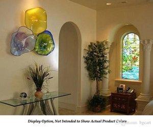 Wonderful Estilo teto de vidro claro da arte Handmade decorativa Blown Glass Wall Plates mão soprado lâmpadas de vidro