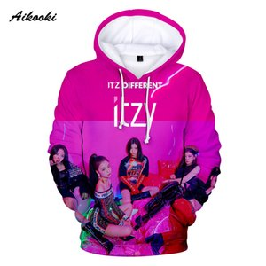 Aikooki ITZY Hoodies Hombre / Mujer Sudaderas Hooded Hoody Hombre / Mujer Star ITZY DALLA DALLA Polluvers Brand Design Ropa