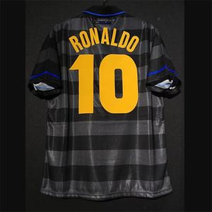 Inter الرجعية 1997/98 رونالدو djorkaeff zamorano zanetti موريرو ريكوبا لكرة القدم الفانيلة خمر ميلان كيت قميص كلاسيكي