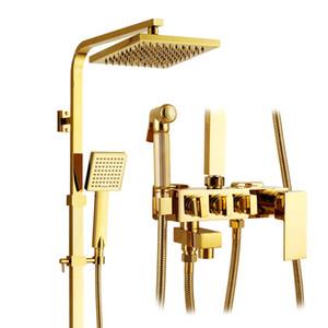 총 스프레이 어 목욕탕 샤워 꼭지를 가진 호화스러운 금 끝 금관 악기 샤워 꼭지