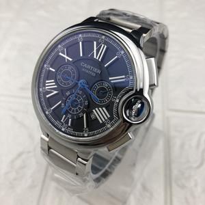 톱 브랜드 CR 크로노 그래프 작업 높은 품질 스테인레스 스틸 남성 명품 시계의 경우 남자 다기능 패션 드레스 석영 시계