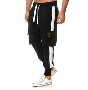 Mi taille de poche Pieds Pantalons Homme Fashion Style Pantalons Colorimétrie Hommes Overalls en vrac Casual