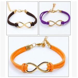bracciale otto 8 Infinity Bracciale otto bracciale bangle in argento placcato bracciale in vera pelle Bracciali corda per donna uomo