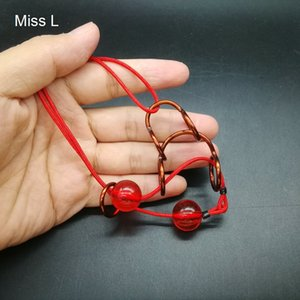 Red Copper Wire Puzzle Handgemachtes Spielzeug Ring Rope Loop Puzzle