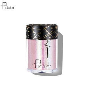 Pudaier 36 single colors Glitter Eye Shadow Diamond Lips Loose Eyes Pigment Powder Cosmetics Make Up 3.5g flashing Eye shadow