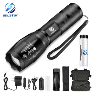 Super bright LED Flashlight Portable outdoor lighting tools 5 lighting modes torch Waterproof aluminum alloy For camping, etc
