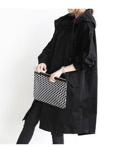 2018 new Korean version of the loose British windbreaker women's long coat jacket Feminino Abrigos Mujer Autumn Outerwear