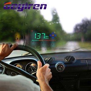 디스플레이 최대 자동차 전자 제품 액세서리 -up GEYIREN A2 디지털 자동차 속도계 자동차 앞 유리 프로젝트 속도계 GPS HUD 헤드를 GPS를