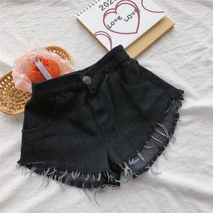 INS bébé enfants fille Jeans Shorts Pantalons enfants mode denim Shorts filles short en jean noir à franges enfants tout pantalon de cow-boy correspondent occasionnels