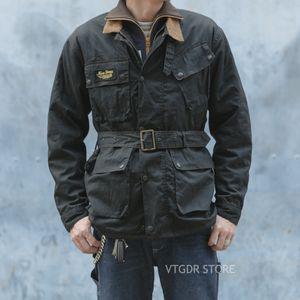 NON STOCK Trialmaster вощеную куртка Vintage мотогонки Coat Black