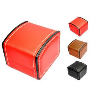 Guarda pelle Gift Box Cuoio elastica vibrazione di PU High End Jewelry Box con il cuscino orologio imballaggio per Bangle Orecchini Anello