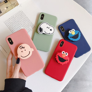 3d Cute Cartoon Soft phone case for iphone XR XS 11 Pro Max plus holder cover for samsung S8 10 20 A50 Note