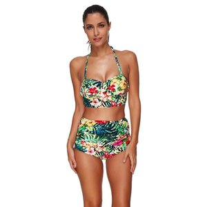 Pregnant Swimwear European And American Ruffled Sexy Slim One-piece Swimsuit Sling Floral Large Size High Waist Swimsuit A1