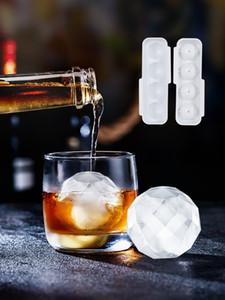 Silikon-Eiswürfelbehälter Herstellung Formwabe Creme Partei Whiskey Cocktail kalt Eiswürfelbereiter trinken