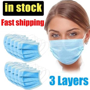 Masques maschera thick mask Face Masks Daily 3 Layer Protective Mask Anti Fog Dust-proof Non-woven Disposable Social Masks