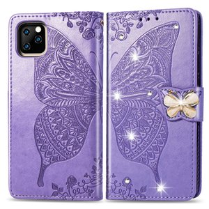 Luxury Butterfly Leather Phone Case For iPhone Plus 7 8 Plus 11 Pro Max Flip Stand Cover For Apple iPhone X XS Max XR Case