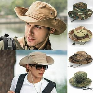 Sun Hat Panama Ведро откидная шляпа Дышащий Boonie Multicam Непальские шляпы Boonie Камуфляж Открытый Рыбалка Шляпы с широкими полями