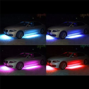 4x8 voiture LED Strip décoration lumières LED Super Bright voiture fond Lumières Musique active Sound System Neon Light Kit