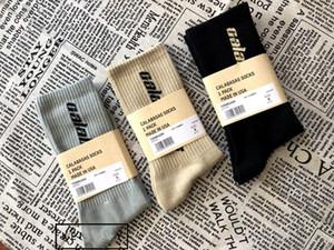 3 cores Calabasas Sock tripulação meias de algodão Kanye West Season 5 Meias Homens Mulheres Socks Casual Skate Meias
