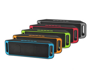 SC208 SC-208 Mini Portable Bluetooth Speakers Wireless Smart Hands-free Speaker Big Power Subwoofer Support TF and USB FM Radio Free DHL