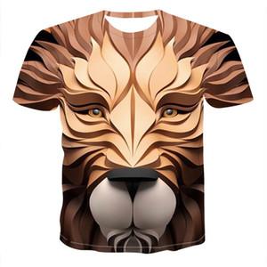 Designer Mens 3D-Tierdruck Tshirts Lässige Mannschaft Hals Kurzarm-T-Shirts Art und Weise Sommer-Herrenkleidung
