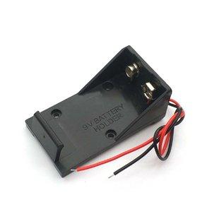 Cheap Storage Boxes 9V Battery Clip Holder Case Box with Wire Leads DIY Battery Storage Boxes