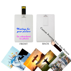 Image libre Logo Custom Made Marque Business Card 1G / 2G / 4G / 8G / 16G / 32G / 64Go USB Flash Drives Marque d'origine Nouveau 40pcs Authentic / Lot Livraison
