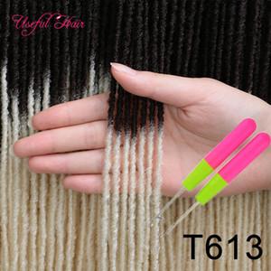 Soeur Locks cheveux Extensions douce interblocages soeur Locks Afro Crochet Tresses Ombre couleur cadeau 18inch 2020 Bug de cheveux synthétiques pour les femmes