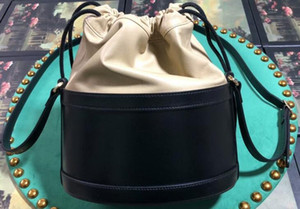 Realfine888 5A 602118 22 centímetros 1955 Horsebit Balde e Hobo Bag, com saco de poeira, DHL frete grátis