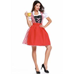 mulheres LCW, s Novo design vários role-playing de férias Costumes de Natal Halloween sexy nova cosplay baile tamanho grande maid costume vestido engraçado